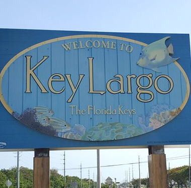 Welcome to Key Largo The Florida Keys Signboard